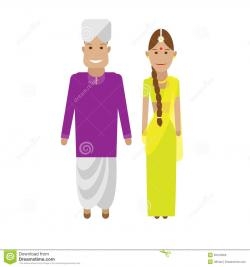Saree clipart national costume
