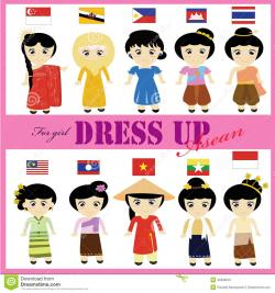 Traditional Costume clipart asean country