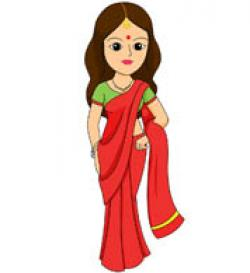 Traditional Costume clipart saree