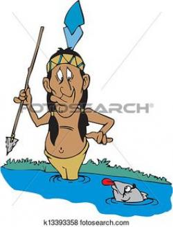 Native American clipart fisherman