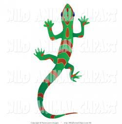 Gecko clipart green lizard