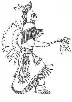 Native American clipart pow wow