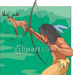 Native American clipart shooting