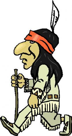 Native American clipart walking