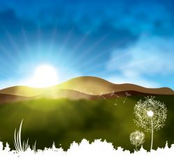 Serenity clipart early morning sunrise