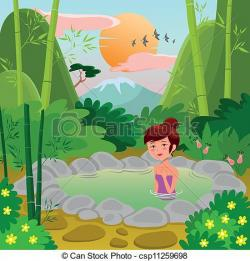 Hot Springs clipart spring water