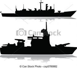 Battleship clipart military ship