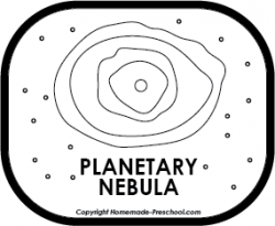 Nebula clipart black and white