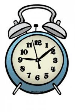 Clock clipart tired
