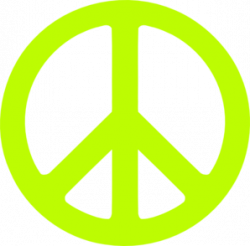 Peace Sign clipart neon