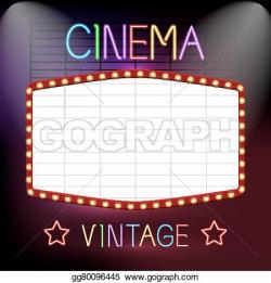 Neon Sign clipart cinema