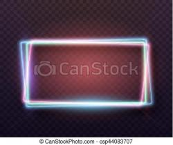 Neon Sign clipart template