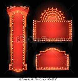 Glow clipart theater light
