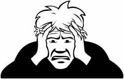 Fear clipart worried man
