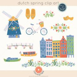 Netherlands clipart spring season