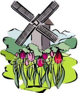 Windmill clipart tulip