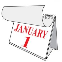 Date clipart january calendar