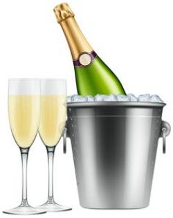 Champagne clipart christmas wine