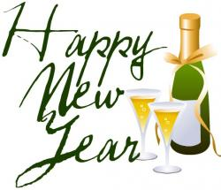 Champagne clipart happy new year