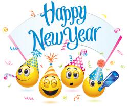 New Year clipart emoji