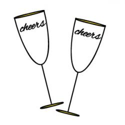 Champagne clipart cheers
