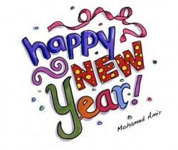 New Year clipart happy holiday
