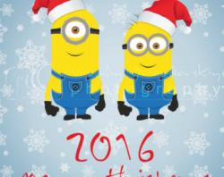 New Year clipart minion