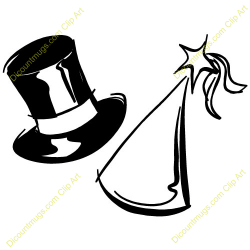 Top Hat clipart new years eve