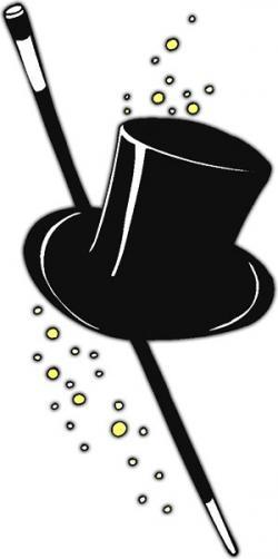 Top Hat clipart cane