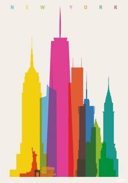 Color clipart new york skyline