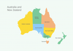 Continent clipart australia and new zealand