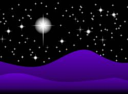Evening clipart starry night