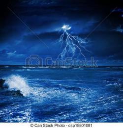 Thunderstorm clipart sea storm