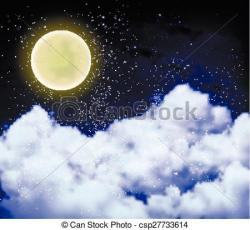 Moonlight clipart full moon