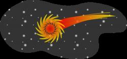 Comet clipart cartoon