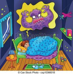 Scary clipart nightmare