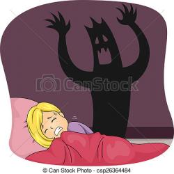 Nightmare clipart terrified