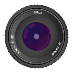 Lens clipart nikon