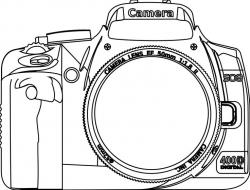 Dslr clipart outline