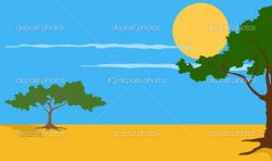 River Landscape clipart safari