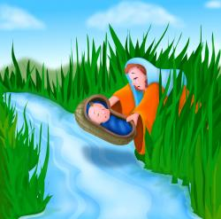 Nile River clipart baby moses