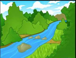 River Landscape clipart river flow