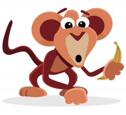 Baboon clipart silly monkey