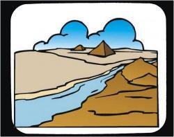 Nile River clipart clean river