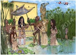 Nile River clipart pharaoh moses