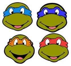 Ninja Turtles clipart outline
