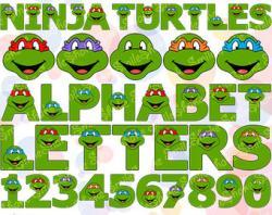 Typeface clipart ninja turtle