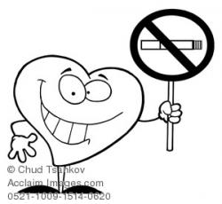 No Smoking clipart heart