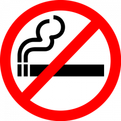 No Smoking clipart not