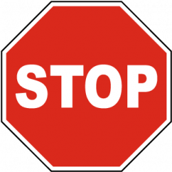 Stop clipart safety sign